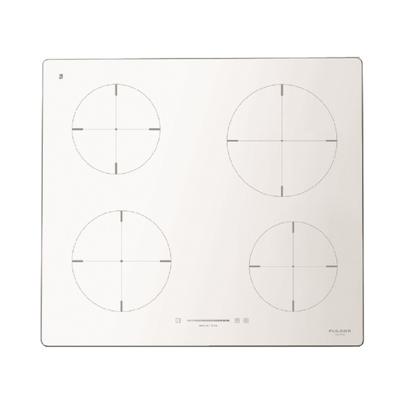 Plita incorporabila Fulgor Milano, CH 604 ID TS WH, 60 cm, plita inductie, 4 zone gatit, timmer, sticla alba