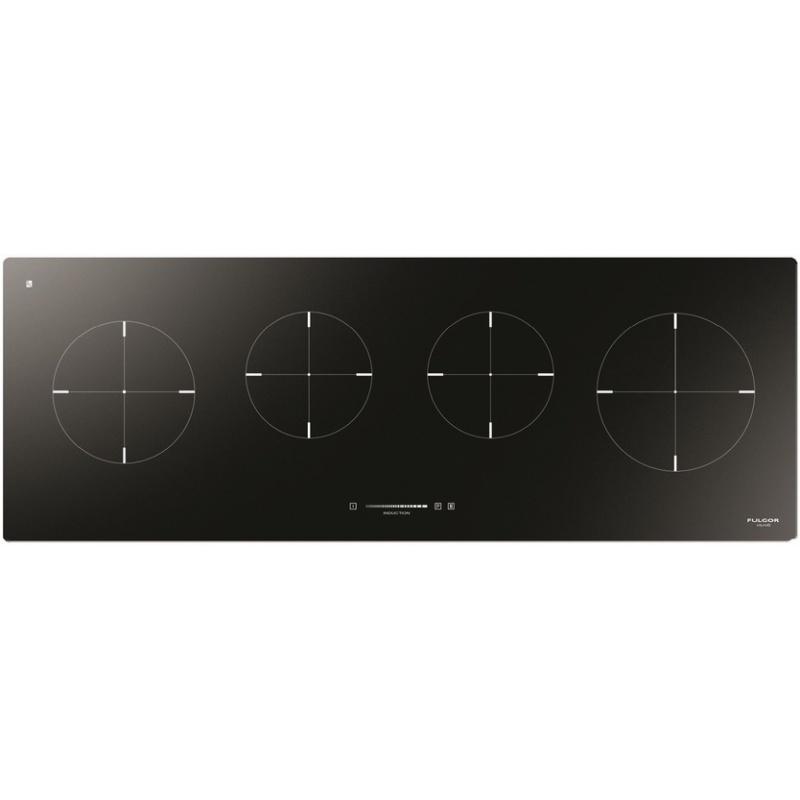 Plita incorporabila Fulgor Milano, CH 1004 ID TS BK, 100 cm, plita inductie, 4 zone gatit, timmer, sticla neagra