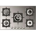 Plita incorporabila Fulgor Milano, FSH 775 G DWK XX, 75 cm, plita gaz, 5 arzatoare,sistem Stop-Gaz, butoane otel, inox