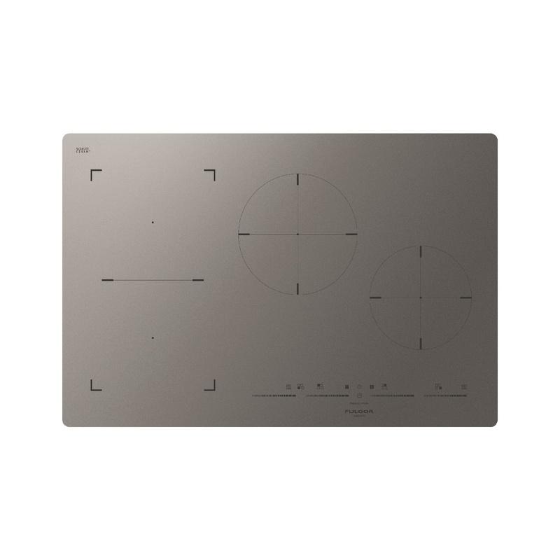 Plita incorporabila Fulgor Milano, FSH 804 ID TS MAT, 80 cm, plita inductie, 4 zone gatit, booster, sticla gri