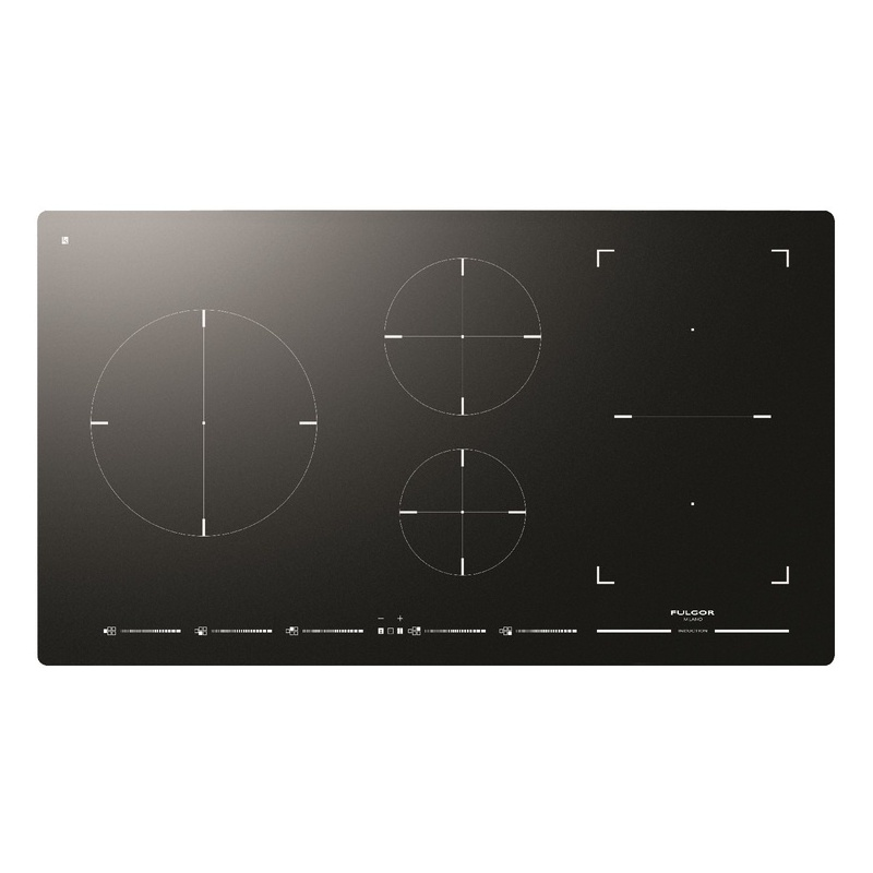 Plita incorporabila Fulgor Milano, FSH 905 ID TS BK, 90 cm, plita inductie, 5 zone gatit, booster, sticla neagra
