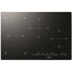 Plita incorporabila Fulgor Milano, FSH 804 ID TS BK, 80 cm, plita inductie, 4 zone gatit, booster, sticla neagra