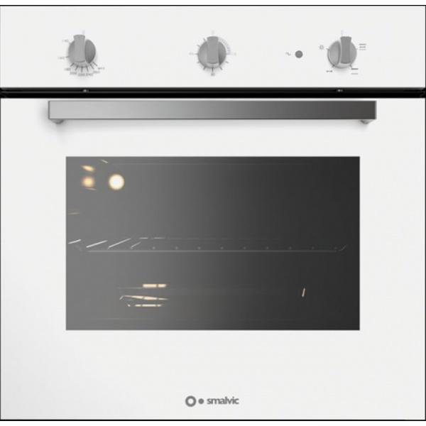 Cuptor gaz incorporabil Smalvic BASIC FI-64GETC, 60 cm, 64l, grill electric,geam negru, inox
