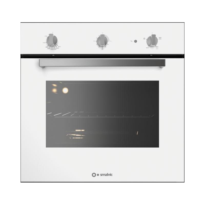 Cuptor gaz incorporabil Smalvic BASIC FI-64GETC, 60 cm, 64l, grill electric,alb