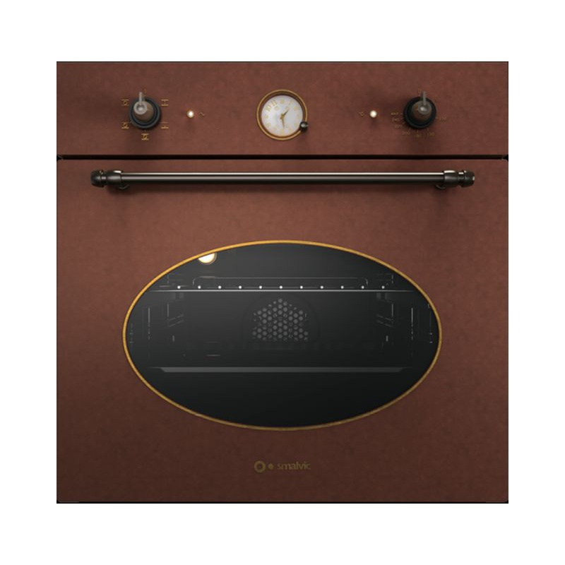 Cuptor electric incorporabil Smalvic COUNTRY FI-64WTR, 60 cm, 64l, 5 functii, cupru