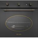 Cuptor gaz incorporabil Smalvic COUNTRY FI-64GETC, 60 cm, 64l, grill electric, negru antracit