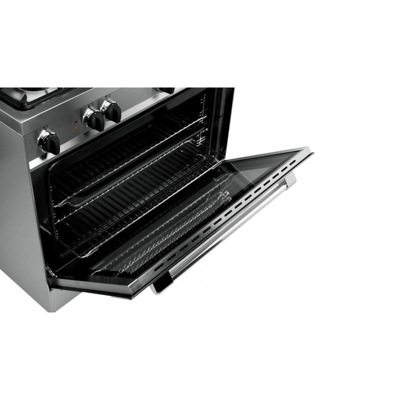 Aragaz Tecnogas PRO P855MW, 80x50 cm, gaz, 5 arzatoare, aprindere electronica, grill, alb