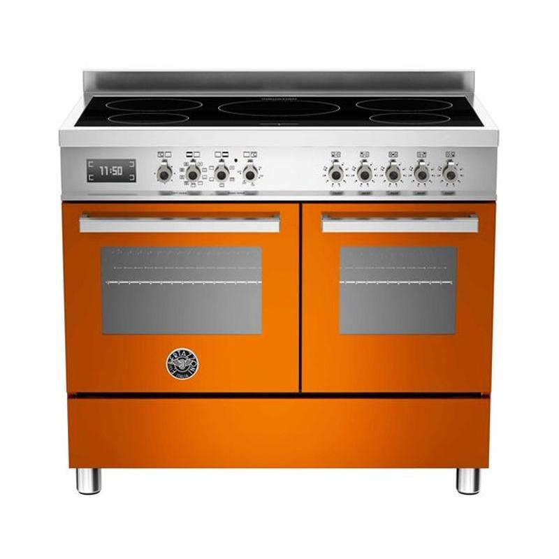 Aragaz Bertazzoni Profesional PRO1005IMFEDART, 100x60 cm, inductie, 5 zone gatit, 2 cuptoare electrice, portocaliu