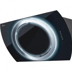 Hota design Baraldi Nima 01NIM090BLB70, 90 cm, 700 m3/h, sticla neagra
