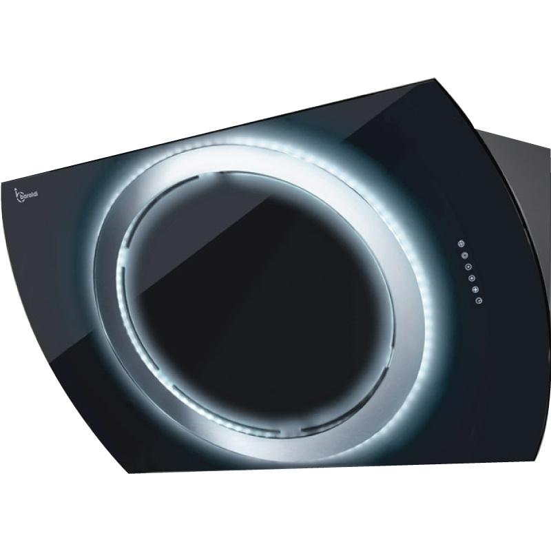 Hota design Baraldi Nima 01NIM090BLB80, 90 cm, 800 m3/h, sticla neagra