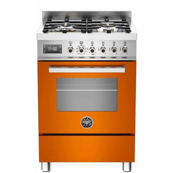 Aragaz Bertazzoni Profesional PRO604MFESGIT, 60x60 cm, gaz, 4 arzatoare, cuptor electric multifunctional, galben