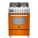Aragaz Bertazzoni Profesional PRO604MFESART, 60x60 cm, gaz, 4 arzatoare, cuptor electric multifunctional, portocaliu