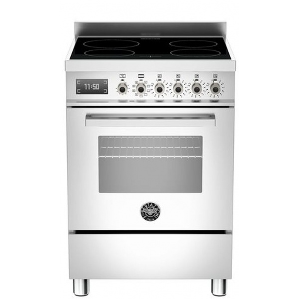 Aragaz Bertazzoni Profesional PRO604MFESXT, 60x60 cm, gaz, 4 arzatoare, cuptor electric multifunctional, inox