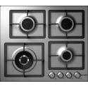 Plita incorporabila Smalvic QUADRO PQ-MF60 3GTC VS, 60 cm, plita gaz, 4 arzatoare, sistem siguranta Stop-Gaz, inox
