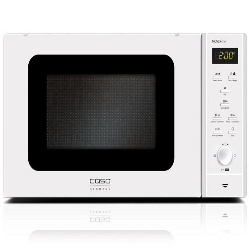 Cuptor cu microunde si grill Caso MCG 25 chef - pure white,microunde 900W,grill 1000W,alb