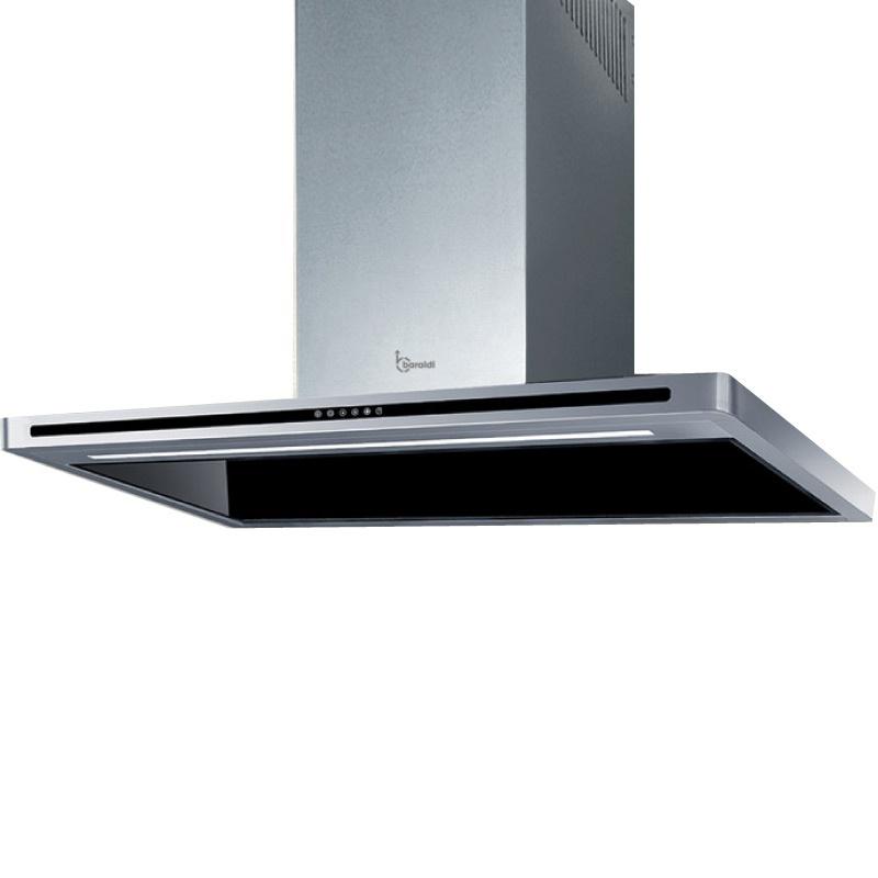 Hota design Baraldi Tecna 01TEC060ITB80, 60 cm, 800 m3/h, sticla neagra/inox