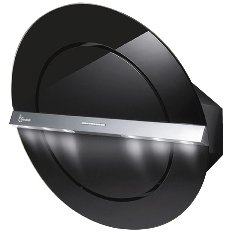 Hota design Baraldi Zen 01ZEN80BB80, 80 cm, 800 m3/h, sticla neagra/inox