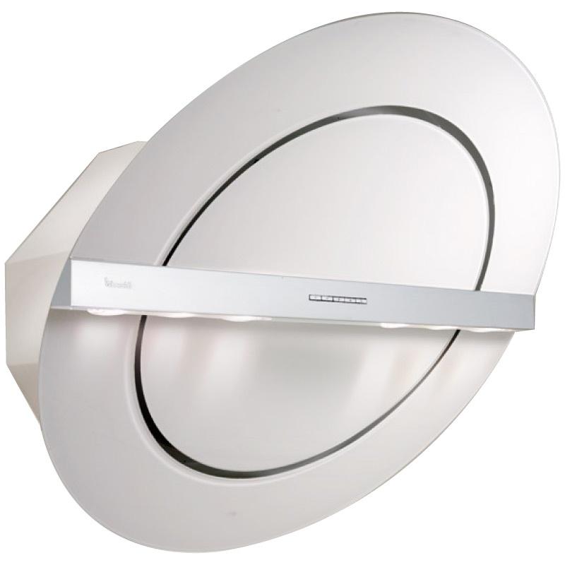 Hota design Baraldi Zen 01ZEN80WW80, 80 cm, 800 m3/h, sticla alba/inox