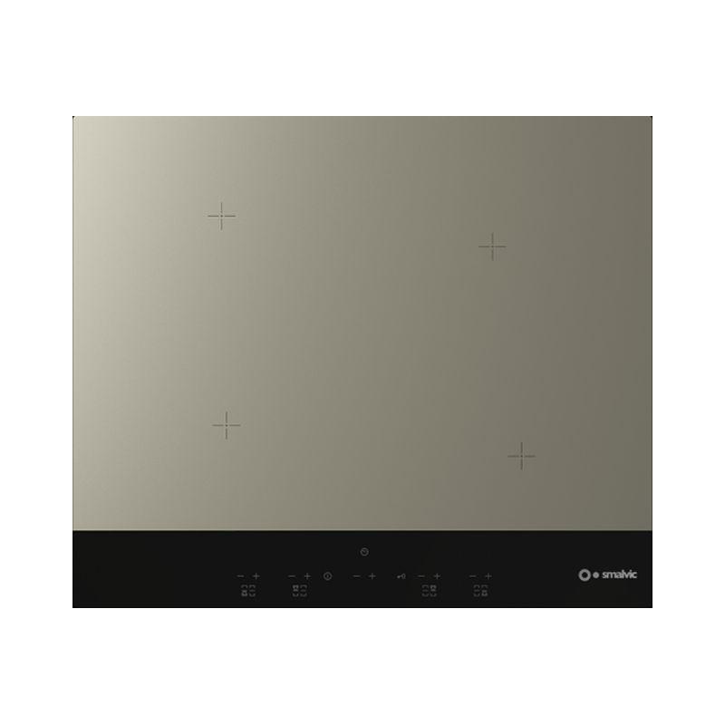 Plita incorporabila Smalvic GRES G60-4IND, 60 cm, plita inductie, 4 zone gatit, alb