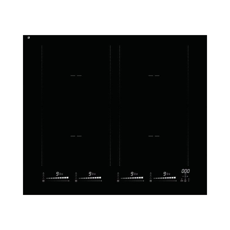 Plita incorporabila Smalvic INDUCTION PVC4IND BIU640A, 60 cm, plita inductie, 4 zone gatit, vitroceramica neagra