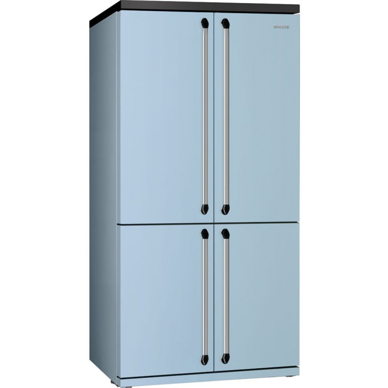 Side by side SMEG VICTORIA FQ906PB, Clasa A+, 610 litri, Latime 92 cm, total No Frost, 4 usi, albastru pastel
