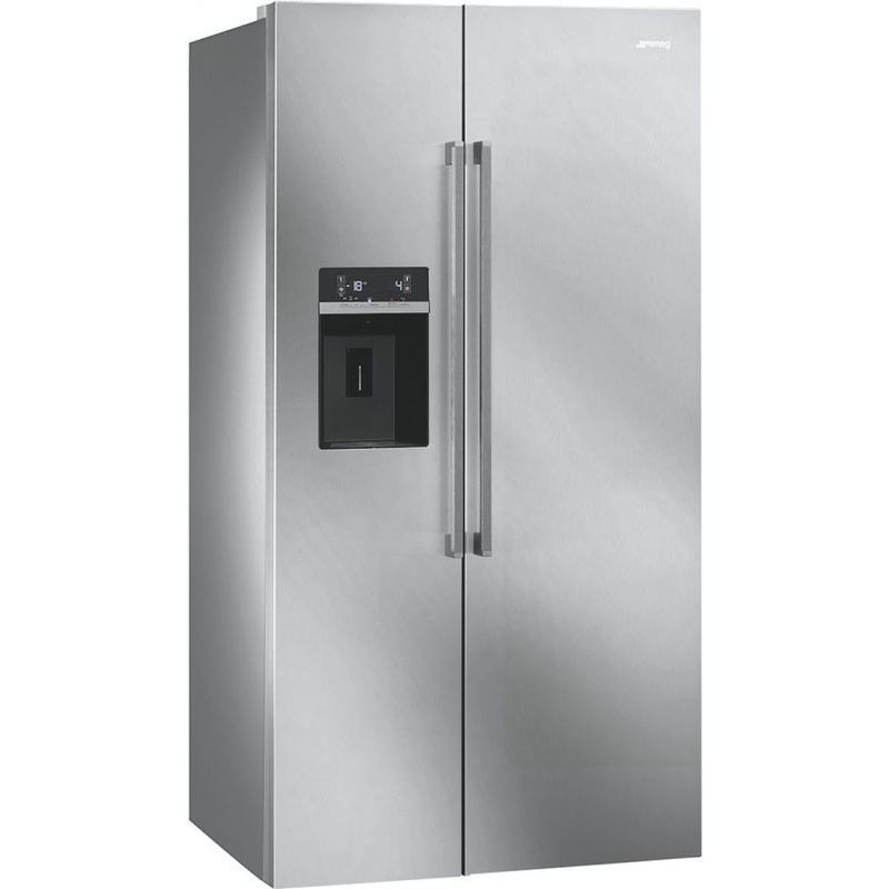 Side by side SMEG CLASSICA SBS63XED, Clasa A+, 616 litri, Latime 91 cm, total No Frost, inox antiamprenta