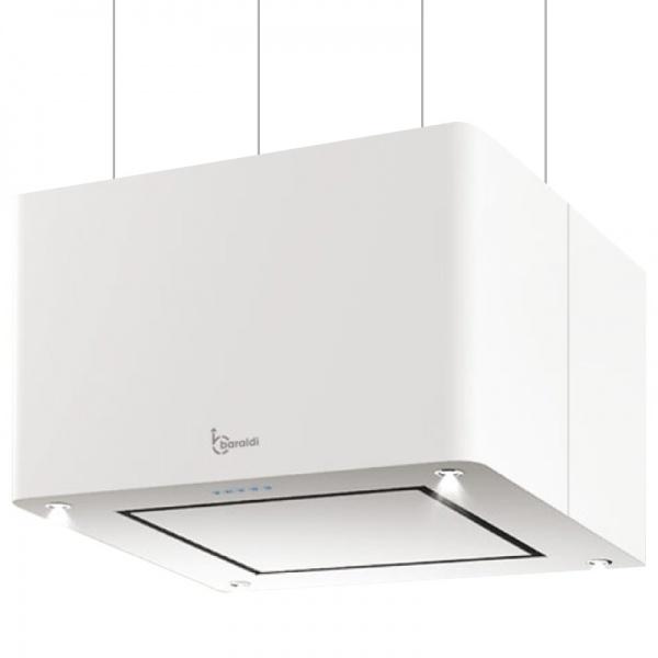 Hota design suspendata Baraldi Maxy 01MAXYS060WH80, 60 cm, 800 m3/h, alb