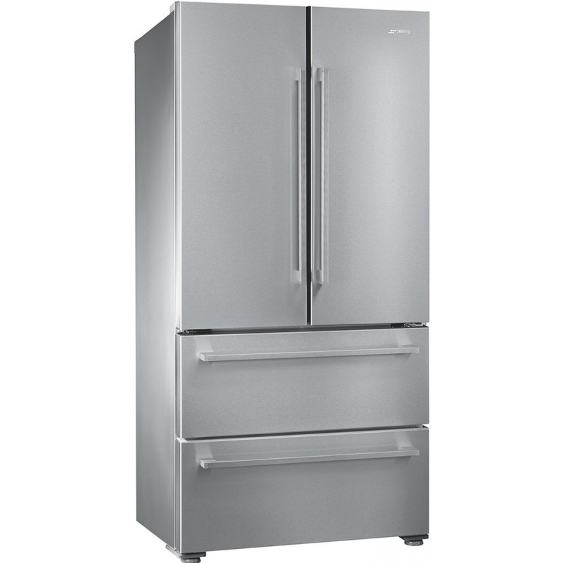 Side by side SMEG FQ55FX1, Clasa A+, 605 litri, Latime 84 cm, total No Frost, inox antiamprenta