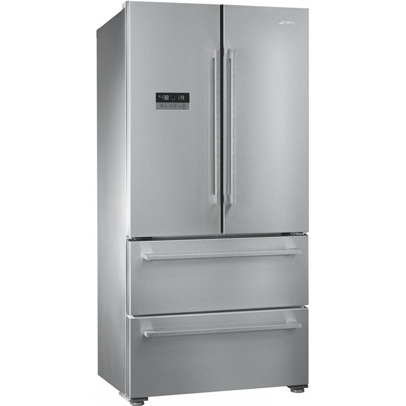 Side by side SMEG FQ55FXE1, Clasa A+, 605 litri, Latime 84 cm, total No Frost, inox antiamprenta