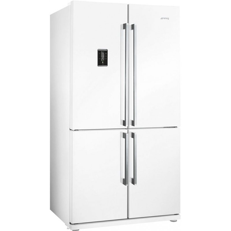 Side by side SMEG FQ60BPE, Clasa A+, 610 litri, Latime 92 cm, total No Frost, 4 usi, alb