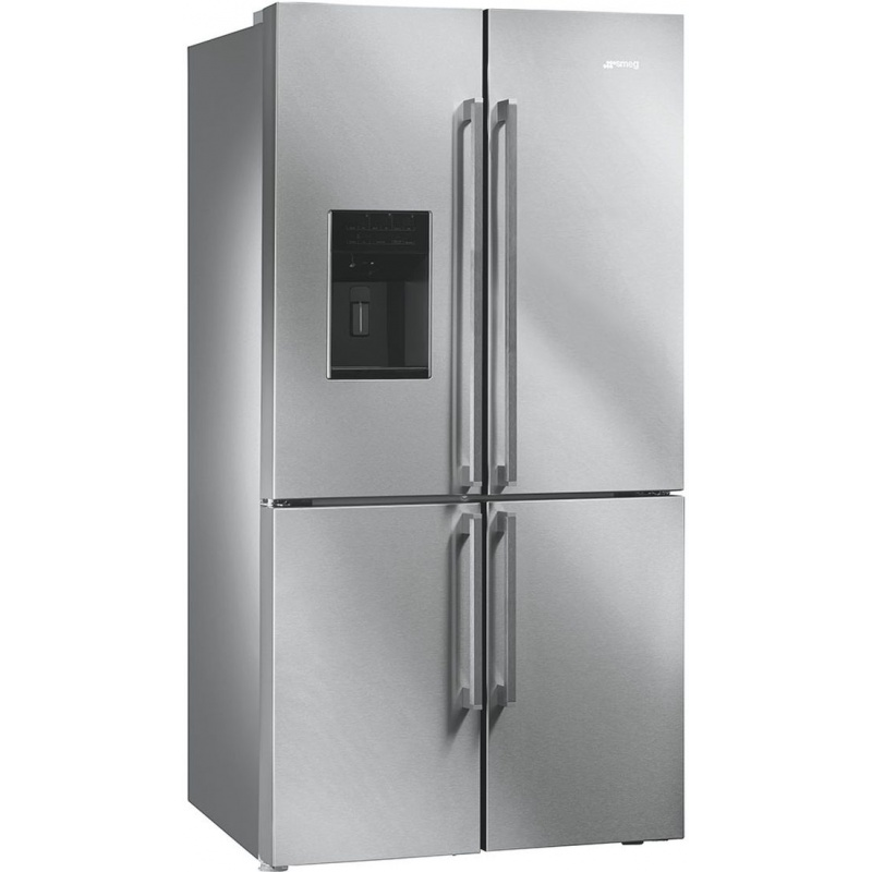 Side by side SMEG FQ75XPED, Clasa A+,750 litri, Latime 91 cm, total No Frost, 4 usi, inox