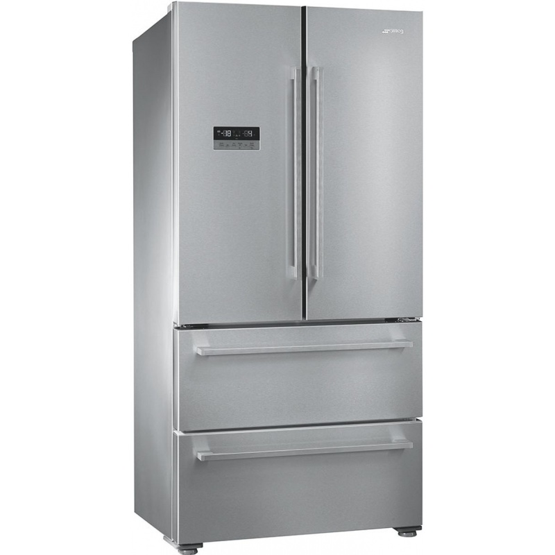 Side by side SMEG FQ55FX2PE, Clasa A++, 605 litri, Latime 84 cm, total No Frost, inox antiamprenta