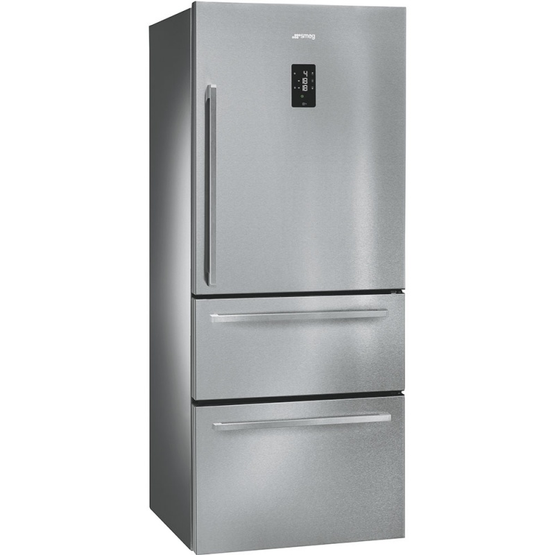 Side by side SMEG FT41BXE, Clasa A+, 530 litri, Latime 74 cm, total No Frost, inox antiamprenta