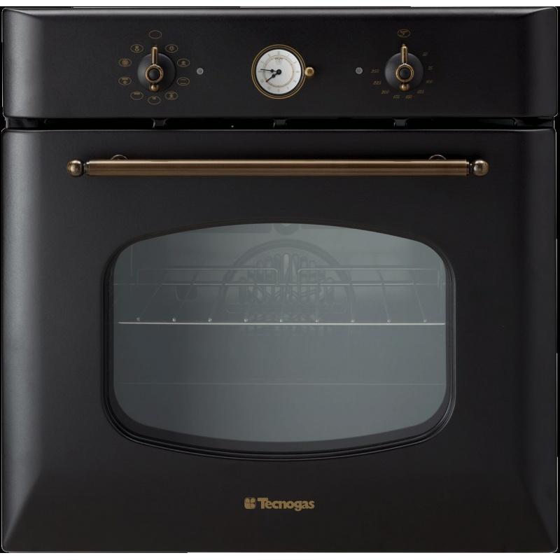 Cuptor incorporabil TECNOGAS RETRO FRB690N, incorporabil, 60 cm, 65l, grill electric, negru