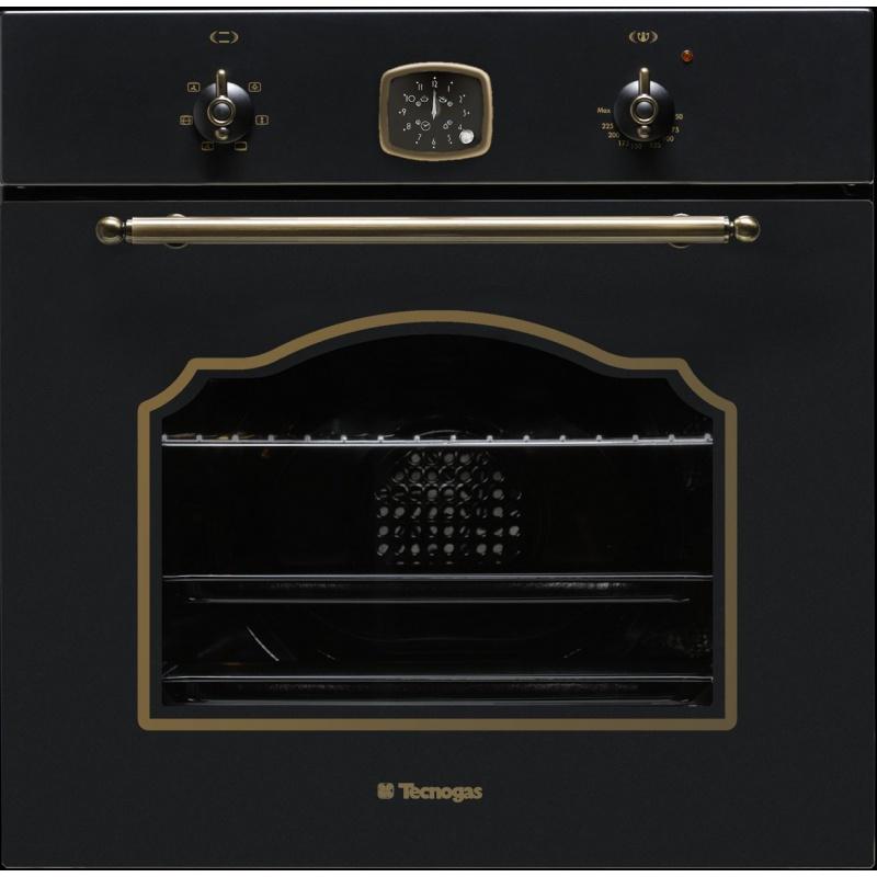 Cuptor incorporabil TECNOGAS RETRO FR660N, incorporabil, 60 cm, 65l, grill electric, negru
