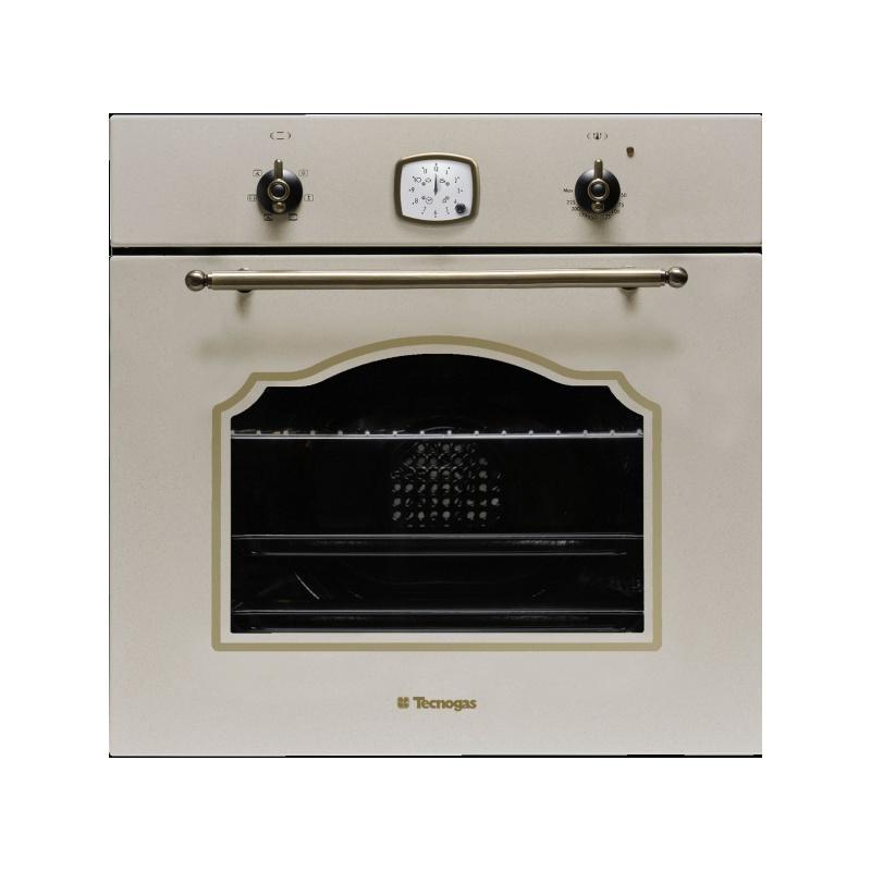 Cuptor incorporabil TECNOGAS RETRO FR620FGA, incorporabil, 60 cm, 65l, cuptor gaz,grill electric, avena
