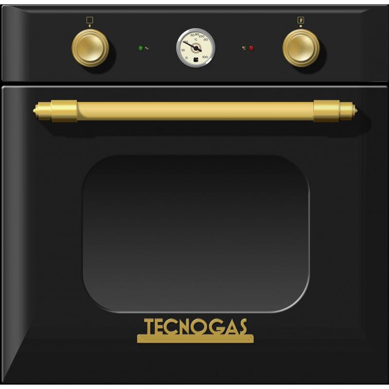 Cuptor incorporabil Tecnogas Deco FD2K66E9BO, incorporabil, 60 cm, 65l, grill electric, negru