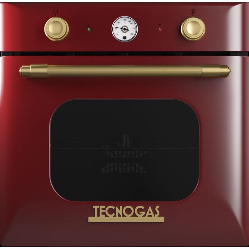 Cuptor incorporabil Tecnogas Deco FD2K66E9RO, incorporabil, 60 cm, 65l, grill electric, rosu