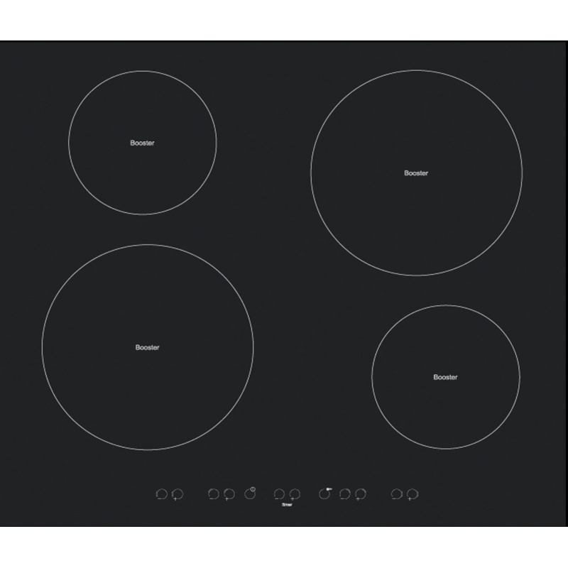 Plita incorporabila Tecnogas MODERNO INE664B, 60 cm, plita inductie, 4 zone gatit, sistem siguranta Stop-Gaz, negru