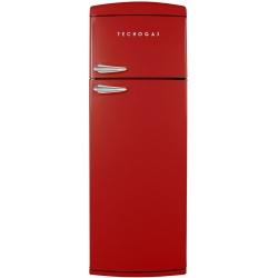 Frigider 2 usi Deco Tecnogas DP36R, Clasa A+, 317 litri, Latime 60 cm, rosu