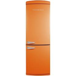 Combina frigorifica Deco Tecnogas COMBI22A, Clasa A+, 335 litri, Latime 60 cm, total No Frost, portocaliu