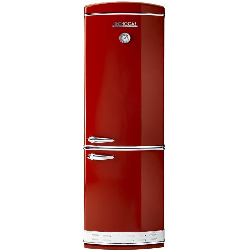 Combina frigorifica Tecnogas Frigo 1952 , Clasa A+, 335 litri, Latime 60 cm, total No Frost, rosu lucios