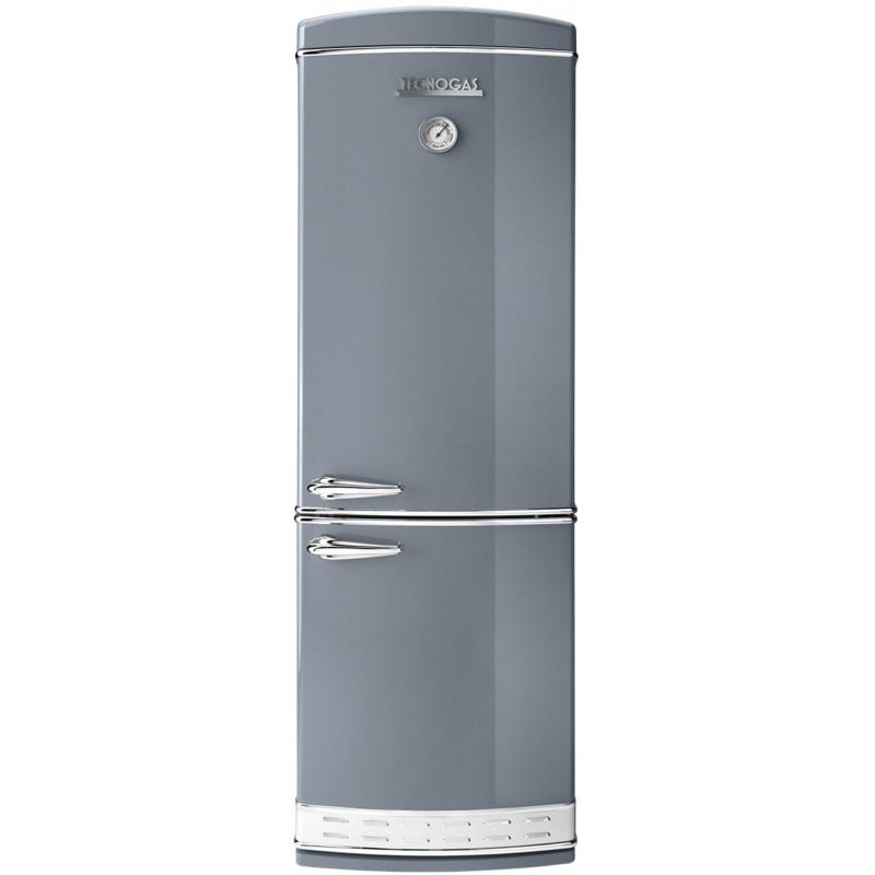Combina frigorifica Tecnogas Frigo 1952 , Clasa A+, 335 litri, Latime 60 cm, total No Frost, gri lucios