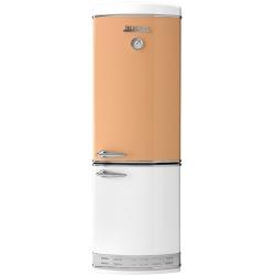 Combina frigorifica Tecnogas Frigo 1952 bicolor , Clasa A+, 335 litri, Latime 60 cm, total No Frost, portocaliu-alb