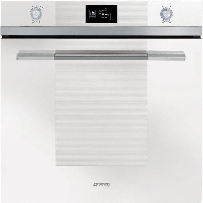 Cuptor incorporabil Smeg Linea SF122BE, electric, multifunctional, 60cm, 11 functii gatit, sticla alba