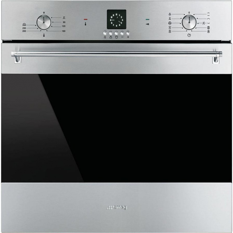 Cuptor incorporabil Smeg Classica SF6399XP, electric, multifunctional, 60cm,inox antiamprenta