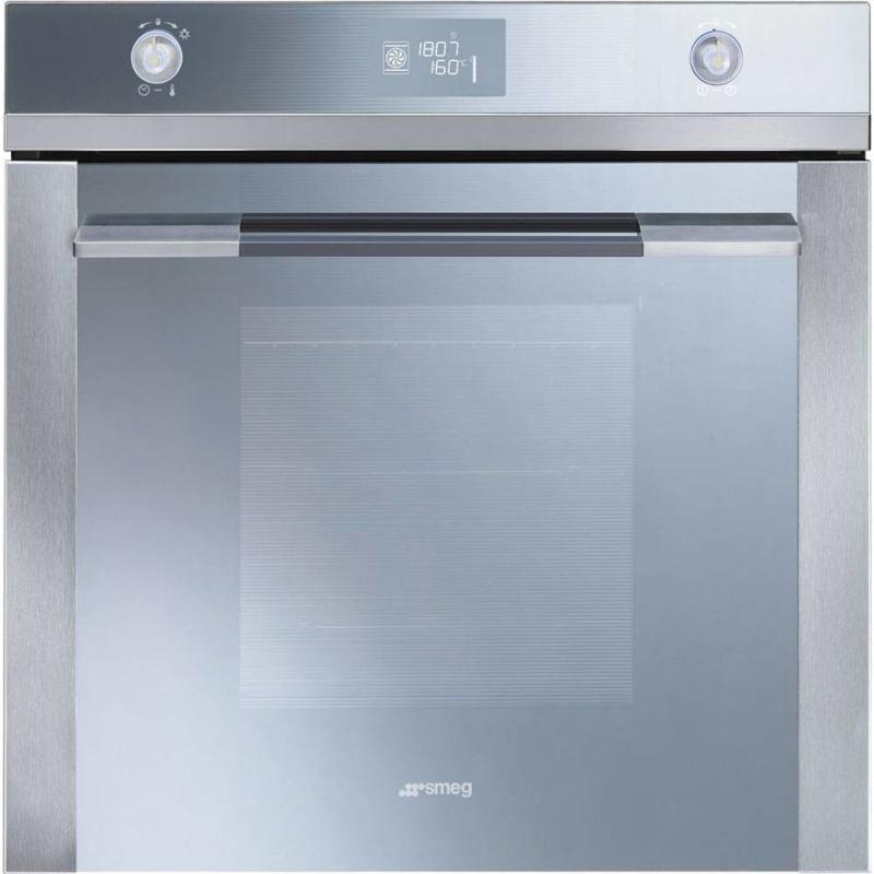 Cuptor incorporabil Smeg Linea SF122E, electric, multifunctional, 60cm, 11 functii gatit, sticla argintie
