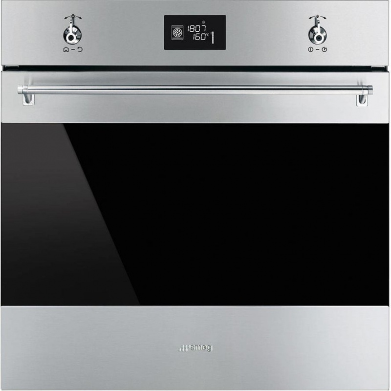 Cuptor incorporabil Smeg Classica SF6390XE, electric, multifunctional, 60cm,inox antiamprenta