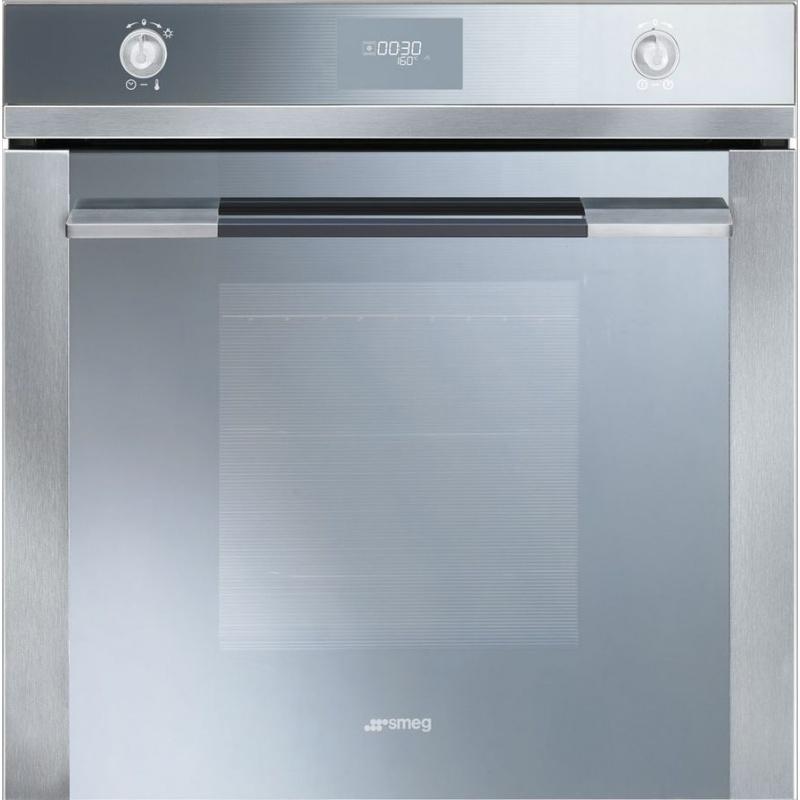 Cuptor incorporabil Smeg Linea SF106, electric, multifunctional, 60cm, 8 functii gatit, sticla argintie