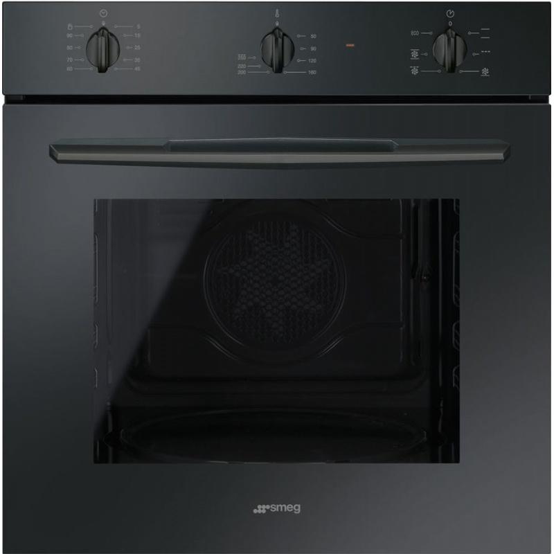 Cuptor incorporabil Smeg Selezione SF561N, electric, multifunctional, 60cm, sticla neagra